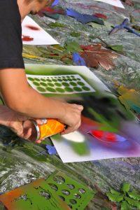 Künstler in Aktion